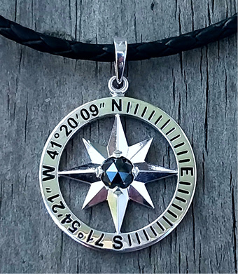 Maggie Lee Designs Compass Rose Pendant