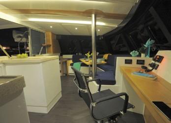 Alpha 42 Catamaran nav station
