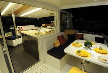 Alpha 42 Catamaran galley