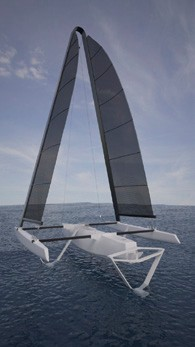 WindRider Rave V Hydrofoil Trimaran