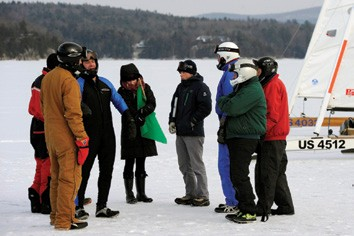 Iceboat racers