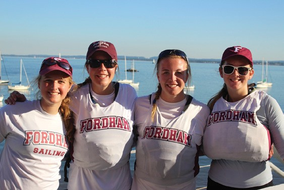 Fordham University Sailing Team at Women's Open
