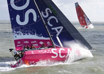 Team SCA Volvo Ocean Race underway