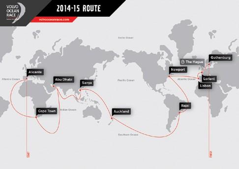 Volvo Ocean Race 2014-2015 Route