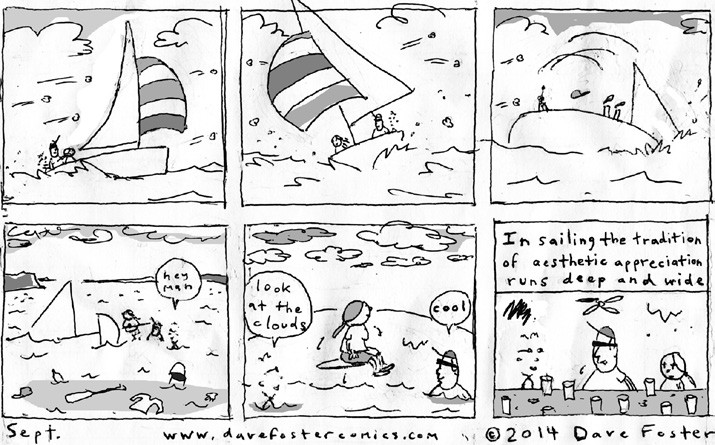September Sailing Comic by Dave Foster