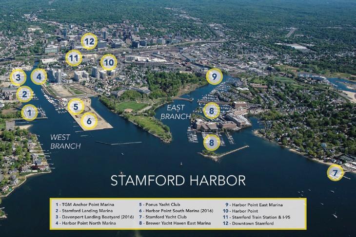 Stamford Harbor Map