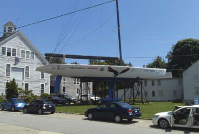America3 is on permanent display at the Herreshoff Marine Museum