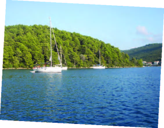 Our anchorage at Luca Polace, Mljet