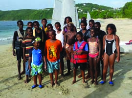 Bequia Youth Sailors has produced some of the most capable Optimist sailors in the Caribbean, and they're eager to compete in international events. © bequiayouthsailors.org