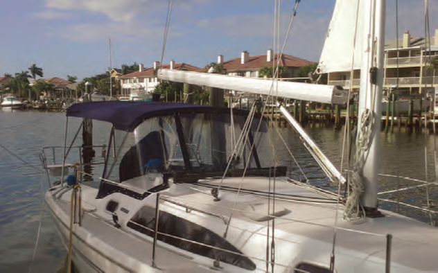 When determining your boat's canvas needs, consider where and when you'll be sailing, and the size of your crew. © islandnautical.com