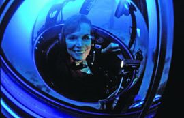 Dr. Silvia Earle holds the women's record for the deepest solo submersible dive. She will be speaking at The Maritime Aquarium at Norwalk on January 24. See page 35. © Kip Evans Photography/MissionBlue