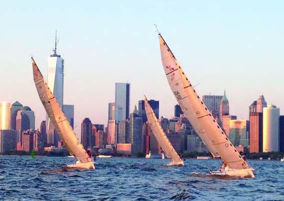 Halcyon Sailing off the Manhattan Coast