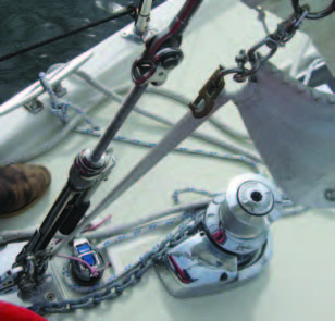 The hand crank tension devices are inferior for Solent or staysail stay use. All movable stays – Solents and staysail stays – need to be re-tensioned after a few hours of sailing. The tackle method makes this very easy, drier and safer, and bends the mast in the right way when used with an inside staysail stay (cutter stay). These devices are heavy and the complete stay system is more complex to rig, tension and get the sail attached. And for most sailors/boats, the common way to tension them after a few hours is to wind on the runners, which bends the mast the wrong way – aft – making the mainsail fuller.