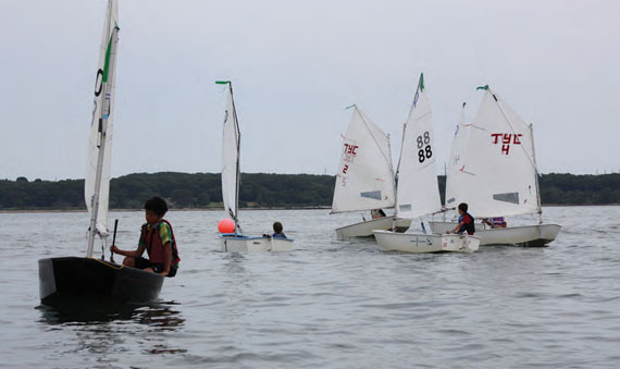 Light air didn't deter the fleet from competing.