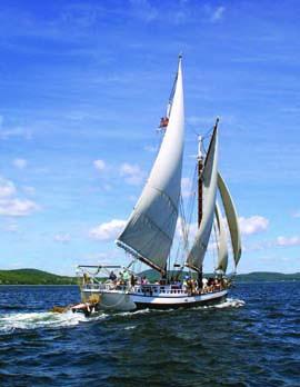 A 3-or 4-day sail aboard Maine Windjammer Cruises' 115-foot schooner Mercantile is a memorable way to go 'sailing solo.' © Ian Burnham/mainewindjammercruises.com