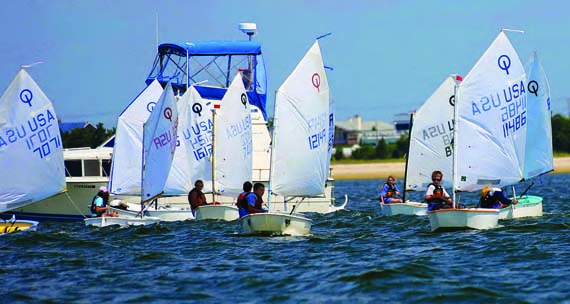 Participants in last year's Make-A-Wish Junior Sailors Regatta raised more than $36,000 for the Make-A-Wish Foundation of Suffolk County. © Peggy Doherty