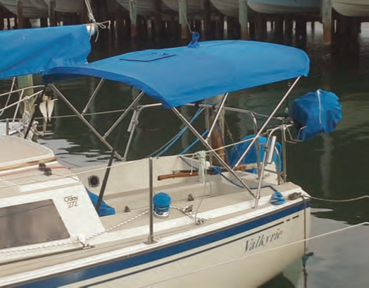 Carefully designed and properly fabricated canvas will add to the enjoyment of your boat. © islandnautical.com