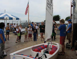Clinics are an integral part of the Dinghy Shop Fall Series. © Marguerite Koehler