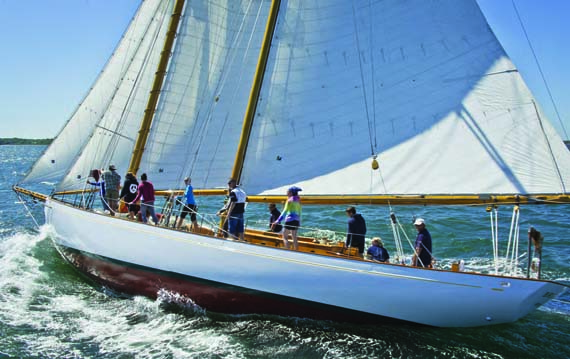 In addition to Mystic Seaport's sailing programs from teens and adults, the 61-foot schooner Brilliant is also available for charters to schools, scout groups and other organizations. © mysticseaport.org