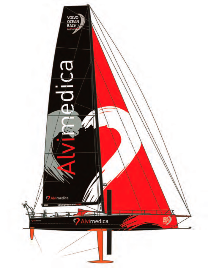 Team Alvimedica's Volvo Ocean 65 one-design will be sailed by the youngest crew in the race. © volvooceanrace.com