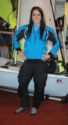 Outer Layer - Spray Gear / Late Spring Early Summer: from bottom to top, Zhik 460 Boot, Gill Pro Salopettes (Zhik Hydrophobic Pants under spray pants), Ronstan Sailing Watch, Gill Pro Top (Spray Top), Zhik Hydrophobic Fleece Top