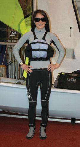 "Base Layer: from bottom to top, Zhik 460 Boot, Zhik Hydrophobic Fleece Pants, Zhik Hydrophobic Fleece Top, Ronstan Sailing Watch, Astral PFD, Kaenon ""Georgia"" Polarized Sunglasses"