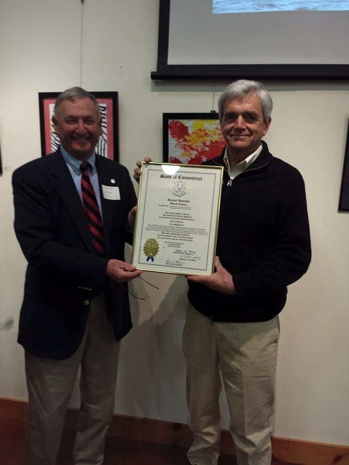 Rod Johnstone receives State of CT award