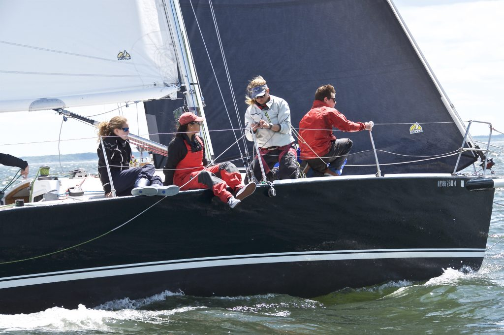 Annika did the Block Island Race on the Young American Sailing Academy's J/105 Young American (Rye, NY). © Rick Bannerot