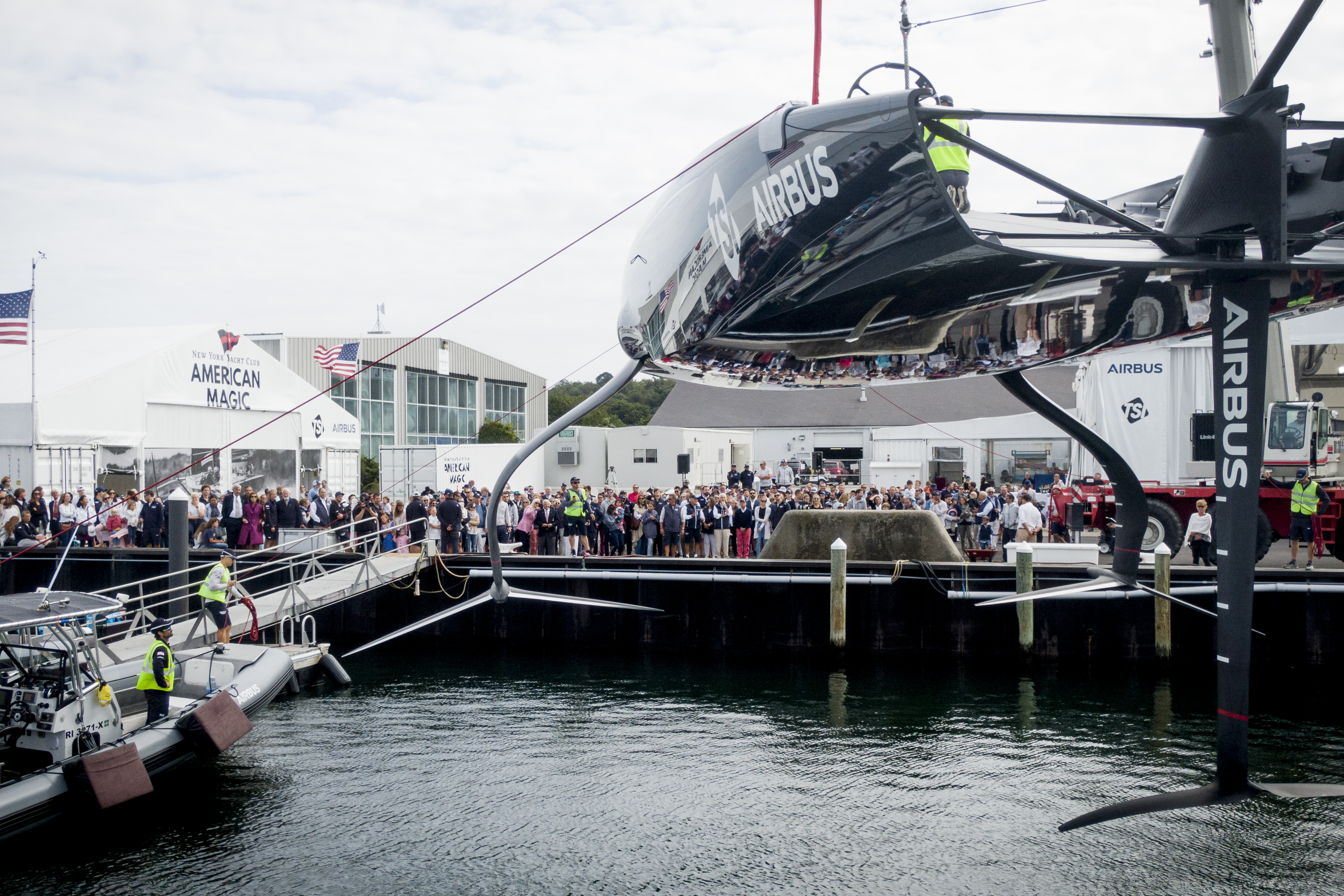 Defiant, New York Yacht Club American Magic's First AC75, is officially launched and named