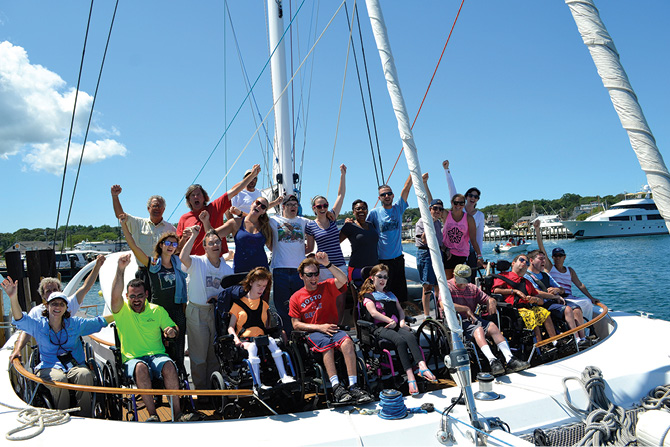 No Dream is Impossible! The world's only universally accessible catamaran provides empowerment through sailing