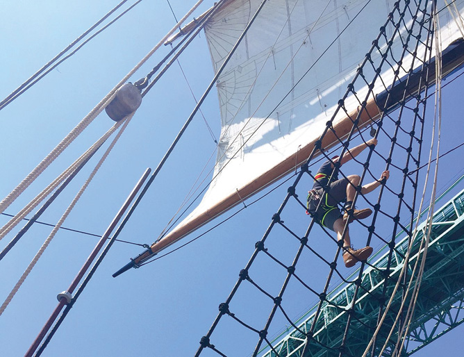 120 Feet Aloft with Tall Ship Rigger Becca Buckler