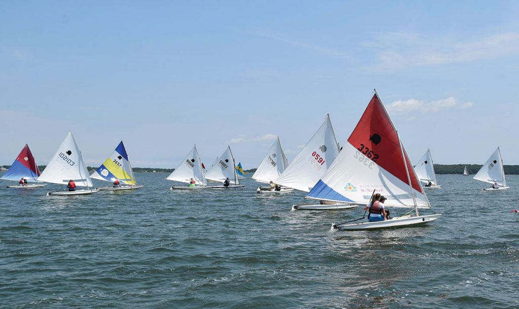Southold Yacht Club is hosting the 50th Annual World's Longest Sunfish Race Around Shelter Island, NY on Saturday, July 18. Courtesy Southold YC
