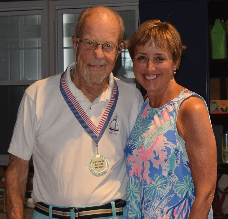 Dick Heinl and SYC Past Commodore Susan Honig Courtesy Southold YC