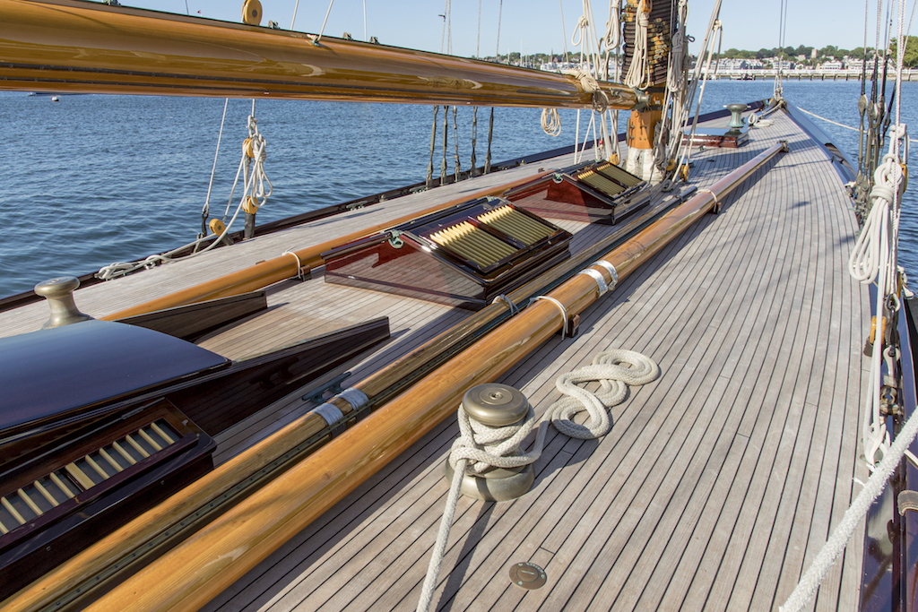 Classic one-design yachts showcase the Herreshoff Golden Jubilee at New York Yacht Club
